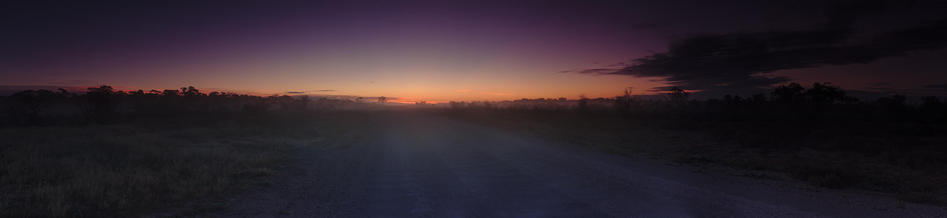 Foggy track, Nyngan